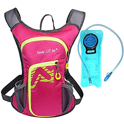 Rullaco 12L Hydration Pack with 2L Water Bladder – Waterproof Camping Hiking Running Biking Trekking Climbing Cyclng Hydration Backpack & Rucksack – Sports Outdoor Water Reservoir Bag For Women Men