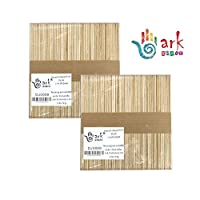 2 x 50 Lollipop Craft Sticks (Natural or Colored) (Natural) by ark Craft