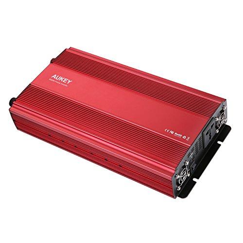 AUKEY 2000W Wechselrichter, leistungsstark DC 12V bis 230V AC Auto PowerInverter mit einem Ausgang