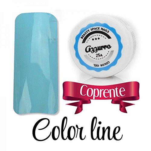 Color Line – Couleur couvrante et effet verre – Gel UV coloré 5 ml, reconstruction de faux ongles bleu ciel