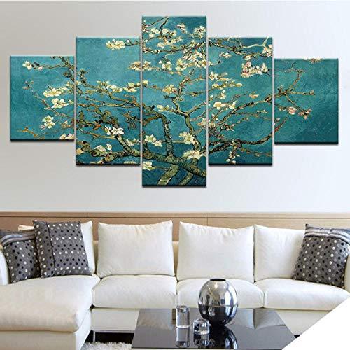 int Die Blume Bäume Moderne Wand Poster Leinwand Kunst Malerei Für Zuhause Wohnzimmer Dekoration-30X40/60/80Cm,With Frame ()