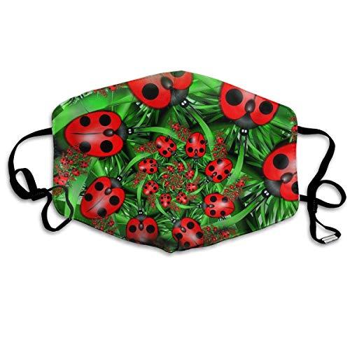 e Unisex-Mundmaske, Gesichtsmaske, Cute Ladybug Cartoon Pattern Polyester Anti-dust Masks - Fashion Washed Reusable Face Mask for Outdoor Cycling ()