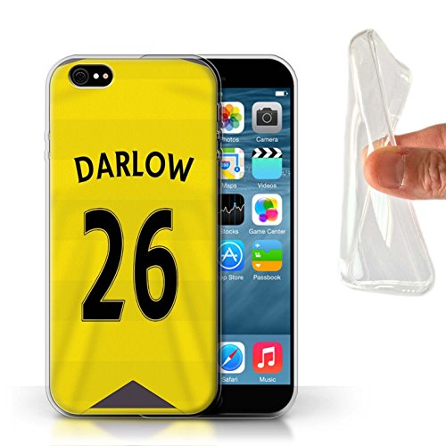 Offiziell Newcastle United FC Hülle / Gel TPU Case für Apple iPhone 6 / Pack 29pcs Muster / NUFC Trikot Home 15/16 Kollektion Darlow