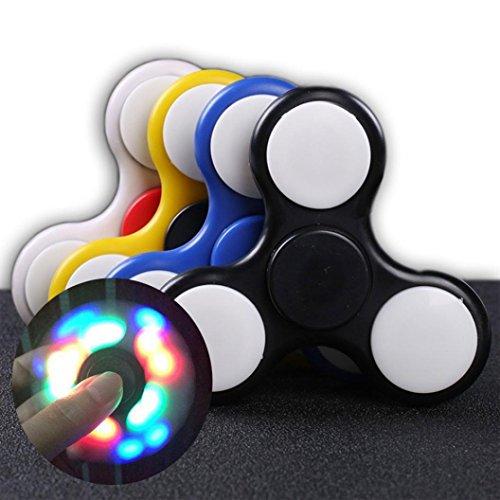 Fidget Spinner Switchali LED Ligero Hand Spinner Fidget Juguete Anti Ansiedad para Niños y Jóvenes Adultos Juguete Educación Juguetes de Aprendizaje - Juego Sensorial Hand Spinner en Oferta (Blanco) -