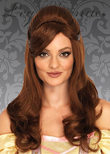 Womens Long Brown Belle Style Prinzessin -