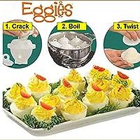 Qinyongani Hot Hard Boil Egg Herd 6pcs Eggies Maker ohne Schalen Eco-Friendly Egg Boiled and Separator Küche Gadgets Kochwerkzeuge