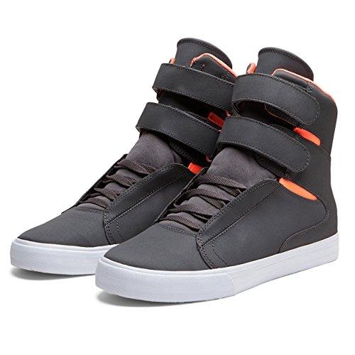 Supra Shoes SUPRA SOCIETY CHARCOAL / NEON ORANGE - WHITE, Herren Sneaker...