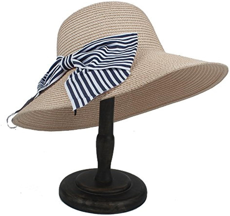 IWGR Cappello da Sole Cappello da Donna con Cappello Sole di Paglia e  Bowknot (Coloreee rosa 824930f2f7e4