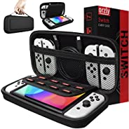 Orzly Carry Case Compatible With Nintendo Switch and new Switch OLED console - BLACK Protective Hard Portable