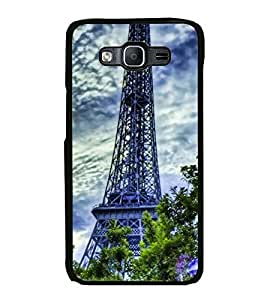 Fuson Designer Back Case Cover for Samsung Galaxy On7 Pro :: Samsung Galaxy On 7 Pro (2015) (eifel tree sky clouds wonders flowers)
