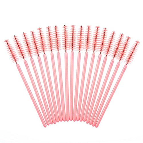 Vococal® 50 Pcs Cils Brosse,Jetable,Multi-fonctionnel,Rose