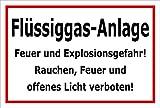 Melis Folienwerkstatt Schild - Flüssiggas-Anlage - 30x20cm   Bohrlöcher   3mm Aluverbund – S00054-B - 20 Varianten