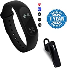 Moblios Xiaomi Redmi 3 Compatible Intelligence Fitness Band with Heart Rate Sensor/Pedometer/Sleep Monitoring