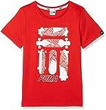 PUMA Kinder Skate Graphic Tee Shirt, Rot(Flame Scarlet), 140