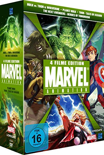 The Marvel Superbox, Vol. 2 (Hulk vs. Thor & Wolverine Next Avengers, Planet Hulk & Thor - Tales of Asgard) (4 DVDs)