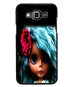 PrintDhaba Blue Hair Doll D-1045 Back Case Cover for SAMSUNG GALAXY GRAND 3 (Multi-Coloured)