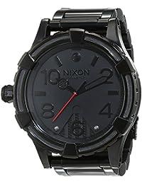 Nixon hombre-reloj 51-30 pagre Negro analógico de cuarzo de acero inoxidable A172SW2244 -00