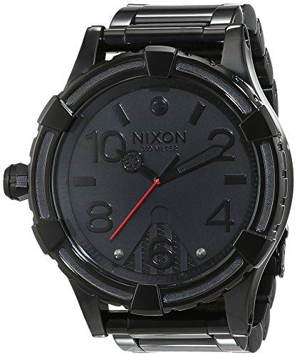 nixon-a172sw2244-0-montre-homme-quartz-analogique-bracelet-acier-inoxydable-noir