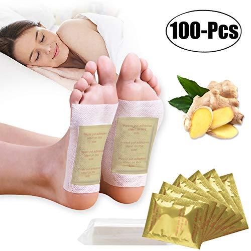 Detox Pflaster Fuß, Kapmore 100 Stück Detox Fußpflaster zum Entfernen von Körpergiften, Schmerzlinderung, Gesundheitspflege, Fußpflege-Pads mit Klebefolien (Gelb)