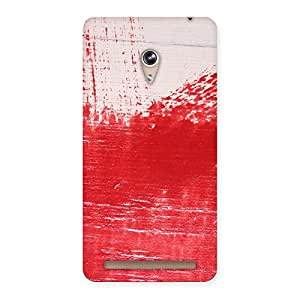 Delighted Red Fresh Texture Back Case Cover for Zenfone 6