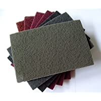 almohadillas de vellón 152 x 229 mm Matte Vellón 7 unidades – Set Mix grano 80 – 800 para madera, acero inoxidable, Inox uvm.. …