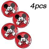 Skino 4 x Aufkleber 3D Gel Silikon Autoaufkleber Stickers Micky Maus Mittelfinger Mickey Mouse Felgenaufkleber Für Radkappen Nabenkappen Radnabendeckel Rad-Aufkleber Nabendeckel Auto Tuning Andere Größe A 72 (50mm)
