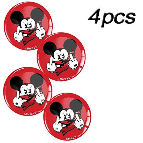 4x L Embleme für Nabenkappen Felgendeckel 60mm Silikon Aufkleber L60 1