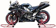 Biketek Series 3 - Juego de soportes para ruedas delantera y trasera de moto
