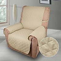 KINLO Funda de sofá apta para sofás normales de 1 plazas sofa protector cubierta 177×56cm color beige