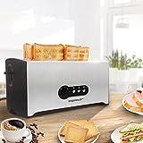 Aigostar Sunshine 30KDG - Edelstahl Toaster Mit Abnehmbarer Krümelschublade (1600 Watt, 4 Brotscheiben, 7 Bräunungsstufen und 3 Kochfunktionen) Farbe Silber & Schwarz. BPA Free. EINWEGVERPACKUNG. - 8