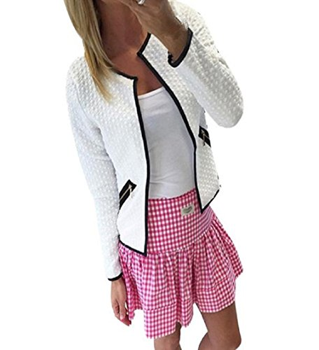 Loveso-Damen Outwear Mäntel Frauen Langarm Lattice Tartan Cardigan Top- Mantel-Jacke Outwear