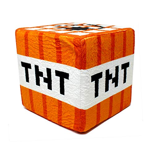 Spainbox Cojin Pixel Cubo de Peluche - Explosivo TNT