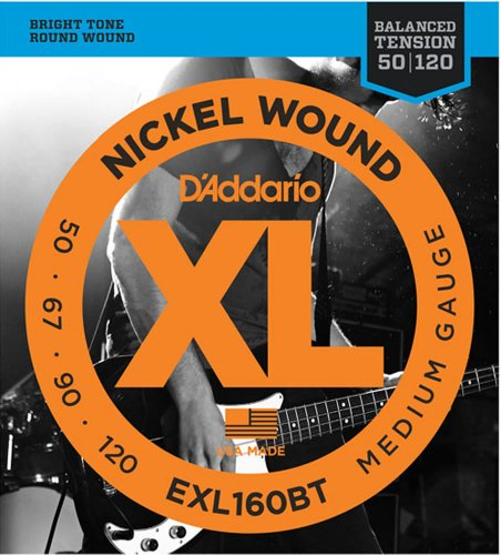 D'Addario EXL160BT E-Bass Saiten Satz Bass 050 - 120 Balanced Tension