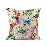 Redland Art Bunt Schmetterling Blume Muster Baumwolle Leinen Zierkissenbezüge Fall Kissen Abdeckung Hause Dekor Geschenke 45x45cm
