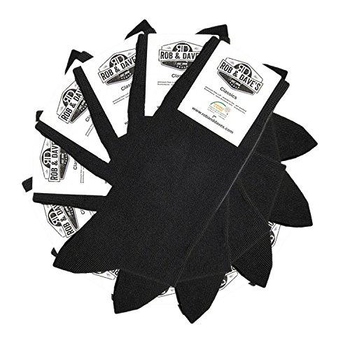 ORIGINAL Rob & Dave's 10 Paar Classic Socken - schwarz für Frau & Mann - Größen von 39-42 - Business & Freizeit Unisex Strümpfe - ohne drückende Naht - angenehmer Komfort-Bund