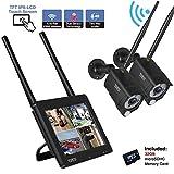 【Touchscreen+PIR+Audio】Tonton Full HD Wireless Überwachungskamera 4-Kanal 7