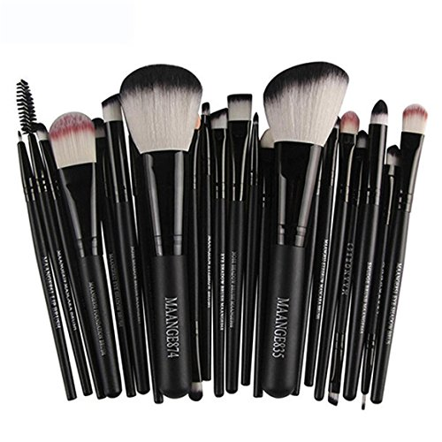 Make-up Pinsel Set, Moonuy 18 Stück Make-up Toilettenartikel Wolle Make Up Pinsel Set (Schwarz 2...