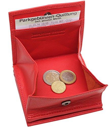 JOSYBAG beliebte LEDER Geldbörse WIENER SCHACHTEL - rot - 7 Kreditkarten-Steckfächer (Geldbörsen Beliebt)