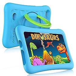 Vankyo Z1 Tablet für Kinder 7 Zoll Kinder Tablet mit Kindersicherungsmodus, 32 GB Speicherraum, Android 8.1, Dual 2Mp Kamera, Blau Hülle, 7 Zoll Kinder Tablet für Jungen