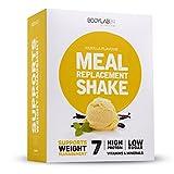 Bodylab24 Meal Replacement Shake, Geschmack: Vanille, der cremige Mahlzeitenersatz der Dir dabei hilft Gewicht zu verlieren, 7 Shakes in praktischen Portionsbeuteln, 7 x 60 g