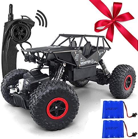 FSTgo Jouet camion/4x4 en alliage avec télécomFemmede à à à 2 piles pour garçons 1/18 RC 2,4 GHz Noir | Dans Plusieurs Styles  39d05c