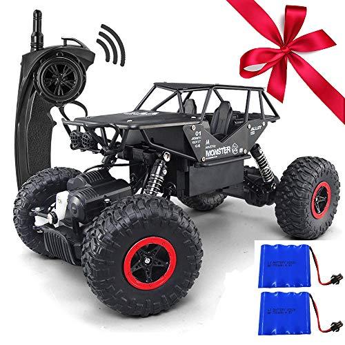 1/18 lega RC auto con due batterie telecomando camion 4 x 4 off Road Rock Crawler per ragazzi 2.4 GHz radiocomandato Monster per bambini