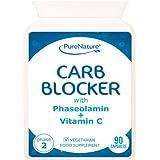 Bloqueur de glucides avec extrait de haricot blanc, phaséolamine Phase 2 et Vitamine C - cliniquement prouvé pour...