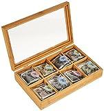 Levivo Tee Geschenk, edle Bambus-Teebeutelbox mit 32 Teebeuteln, 8 verschiedene Sorten für Levivo Tee Geschenk, edle Bambus-Teebeutelbox mit 32 Teebeuteln, 8 verschiedene Sorten