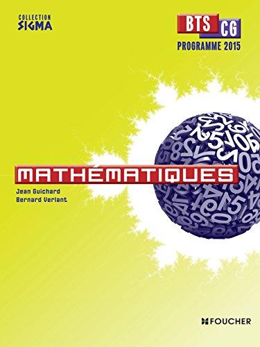 Sigma Mathématiques BTS CG Programme 2015