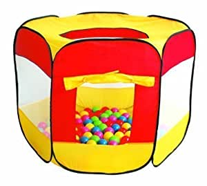 HomeStore Global, Holiday Gift Children Kids Pop-Up Ball Pit Play Tent with 100 multi-coloured balls - Indoor and Outdoor