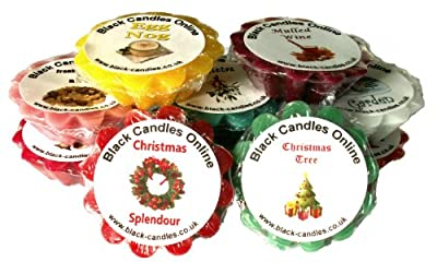 10 Christmas Scented Wax Tarts from Black Candles Online