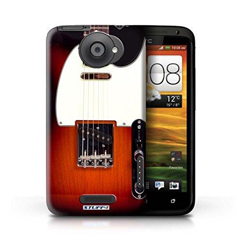 Kobalt® Imprimé Etui / Coque pour HTC One X / Sunburst Acoustique conception / Série Guitare Sunburst Electrique