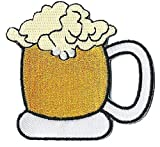 NagaPatches Patche écusson thermocollant Chope de Bière