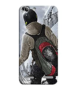 Fuson Designer Back Case Cover for Lenovo Vibe K5 Plus :: Lenovo Vibe K5 Plus A6020a46 :: Lenovo Vibe K5 Plus Lemon 3 (Skate Bag Carry Boy Man Life Sport )